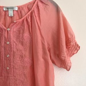 Peach Dressbarn shear top